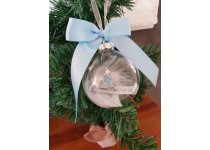 Memorial Christmas Bauble Blue