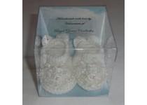 Boxed Crochet Memorial Angel Shoes