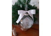 Memorial Christmas Bauble White